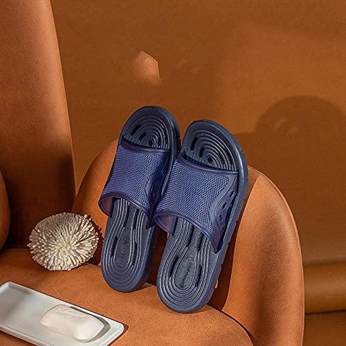 Bossoshe Zapatos de Piscina Unisex-Sandalias de Vigas Inferiores Inferiores de Interior, baño de Velocidad Antideslizante de baño Zapatillas secas-Azul_42/43
