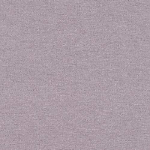 rasch Tapete 448535 aus der Kollektion Florentine II – Einfarbige Vliestapete in zartem Lila – 10,05m x 53cm (L x B)