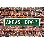 """Fhdang Decor Akbash, Akbash Gift, Akbash Sign, Dog Lover Gift, Custom Street Sign,Metal Sign, 4"""" x 18"""" 3"""