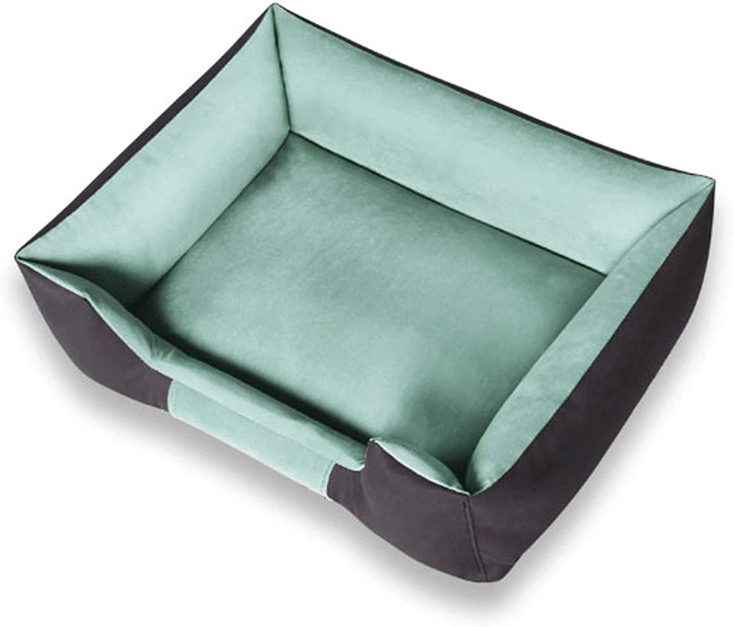 Pet Nest Nonsticky Four Seasons Removable and Washable Medium Dog Small Dog Warm Pet Mattress (color   Green, Size   C)