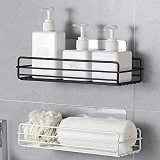 ONEPEARL(LABEL) Stainless Steel Bathroom and Kitchen shelve for Storage Organizer (Black)