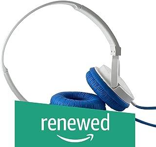 (Renewed) SoundMagic P10S Headphones with Mic (White/Blue)