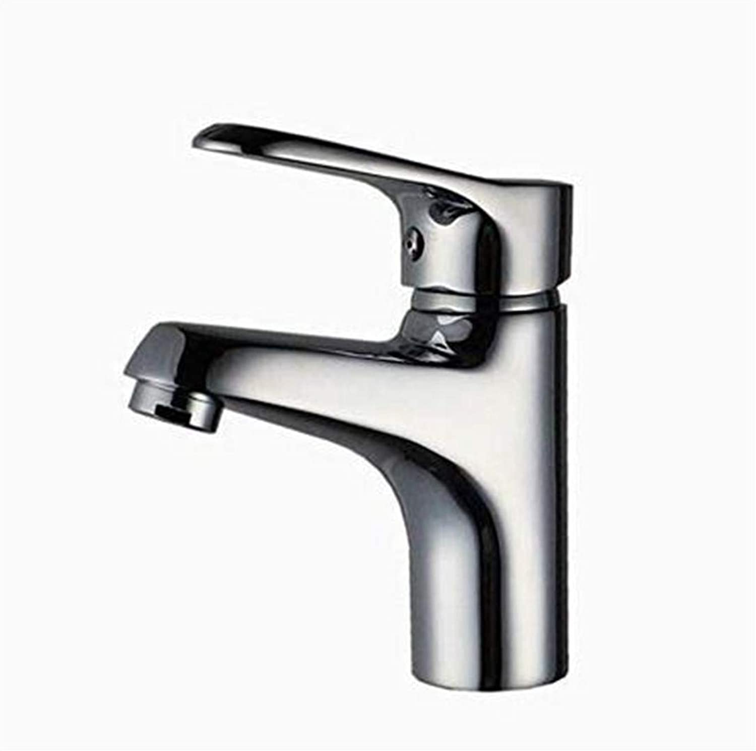 Kitchen Hot and Cold Water Brass Chrome Basin Faucet Copper Main Body High Standard Plating Hot and Cold Water Faucet Wash Basin Dedicated Taps