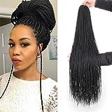 ZRQ 34 Inch 8 Packs Crochet Senegalese Twist Braids Hair Small Senegalese Twist Crochet Hair Micro Long Mambo Twist Crochet Braids For Black Women 40Strands/Pack(34'8packs,1b#)