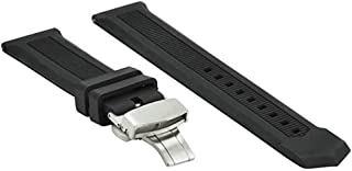 g24 22mm Black Silicone Rubber Watch Band Strap for Tag Heuer Formula F1 Aquaracer Deployment Buckle Model