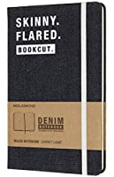 """Moleskine Limited Collection Denim Notebook, Hard Cover, Large (5"""" x 8.25"""") Ruled/Lined, 240 Pages"""