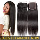 9A Brazilian Virgin Human Hair 4x4 Top Swiss Lace Closure Frontal Free Part Best Peruvian Silky Straight Natural Black Color Cheap Indian Malaysian Remy hair CanBe Bleached Knots One Piece 18 inches
