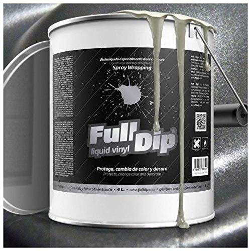 AutoFullCar - Full Dip Antracita Metalizado Bote 4 litros Vinilo LÍQUIDO FULLDIP Listo para Pintar
