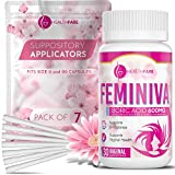 HealthFare Boric Acid Vaginal Suppositories - 600mg - Feminiva with 7 Applicators - Intimate Health Support - 100% Pure Made in USA - No Artificial Colors