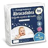 Babysom - Coprimaterasso Lettino Bambino « 2 in 1 » | Per Neonato - 70x140 cm - Lenzuolo + Proteggi materasso Impermeabile - 100% Cotone - Silenzioso - Traspirante