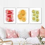 QZROOM Modernes Wohnzimmer Dekorative Malerei Frisches Obst