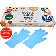 Bubble Glove: Best Kids Nitrile Gloves (latex free, powder free & food safe) Multipurpose Use (50)