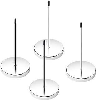 DELFINO Desk Receipt Holder Straight Rod Paper Stainless Steel Check Spindle Memo Bill Fork Spike Stick Desk Straight Rod ...
