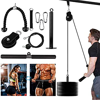 Amazon - 15% Off on TIFITGO LAT and Lift Pulley System Fitness Pulley Cable Attachments for Arm Strength Training Triceps