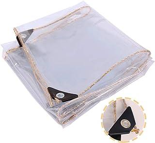 YANGSANJIN Lona Transparente, Lona para Exteriores Súper Impermeable PVC Balcón Refugio Cortina de Viento a Prueba de Lluvia de Vidrio Suave, 23 tamaños (Color: Transparente, Tamaño: 0.9X1.9m)