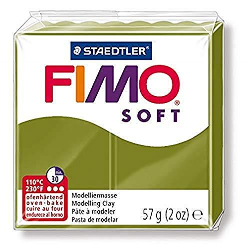 STAEDTLER-8020-57 ST Pasta de modelar de Secado al Horno, Pastilla estándar, Color Verde Oliva, (8020-57)
