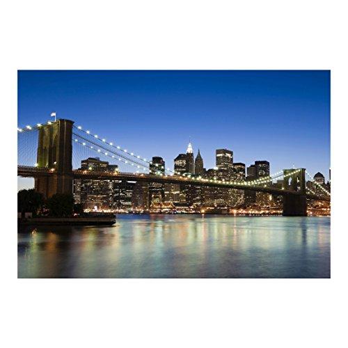 Bilderwelten Papier peint intissé - Brooklyn Bridge in New York - Mural Large papier peint photo intissé tableau mural photo 3D mural, Dimension HxL: 255cm x 384cm