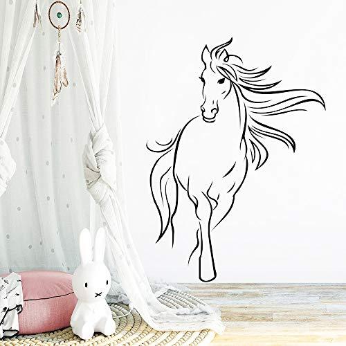 Yaonuli Nordic paard vinyl kinderkamer decoratieve muursticker huis sticker woonkamer slaapkamer decoratieve dierenmuursticker