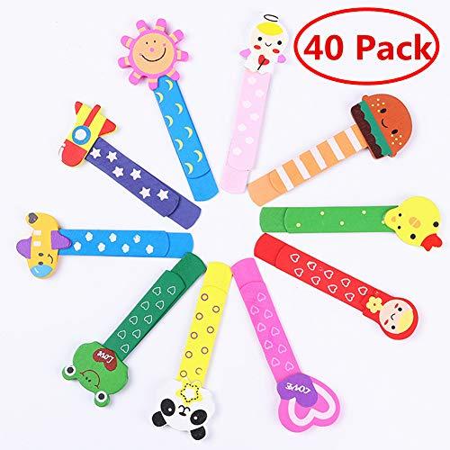 40 Coloratissimi animali segnalibro,bambini in legno idea,bomboniera battesimo pensierino regalino gadget,festa compleanno bambini (30)