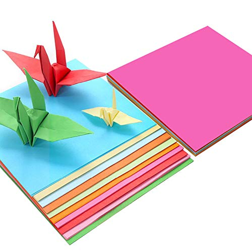 Papel de origami de colores (200 hojas), papel de color (70 gm),...