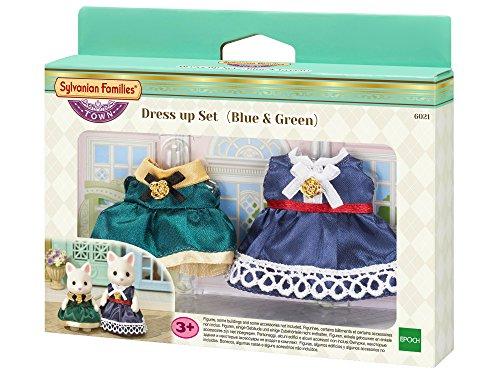 Sylvanian Families - 6021 - Set Vestidos (Azul y Verde)