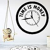Tianpengyuanshuai El Tiempo es Dinero Etiqueta de la Pared Arte Personalidad Creativa decoración de Fondo 30X30cm