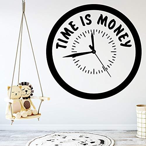 Yaonuli Zeit ist Geld muursticker persoonlijkheid creatieve woonkamer kinderkamer slaapkamer achtergrond decoratieve muurschildering