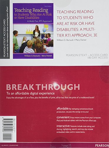 Teaching Reading to Students Who Are At Risk or Have Disabilities: A Multi-Tier, RTI Approach,Enhanced Pearson eText --