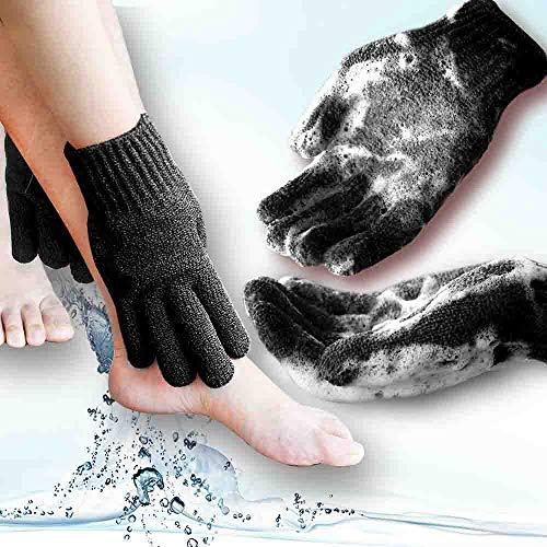 MIG4U Home Spa Exfoliating Shower gloves For full Body Wash