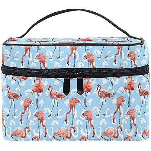 Pink Flamingo Makeup Bag Flamingo Cosmetic Bag Toiletry Brush Train Zip Carrying Portable Storage Pouch Bags Box