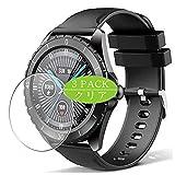3枚 VacFun フィルム , ELEGIANT C520 スマートウォッチ smart watch 向けの 保護フィルム 液晶保護 フィルム 保護フィルム(非 ガラスフィルム 強化ガラス ガラス ) ニュー