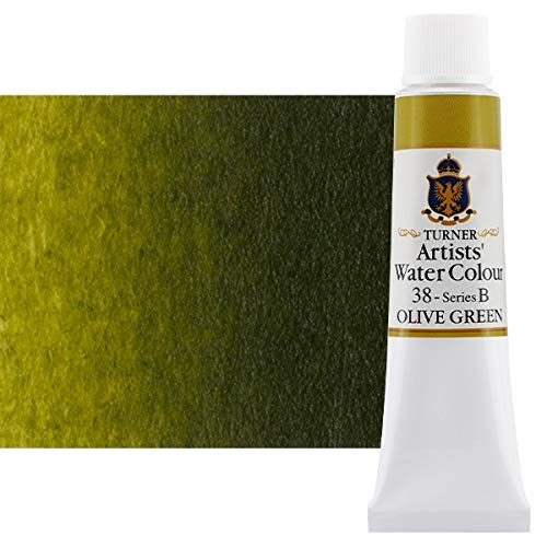 Turner Concentrated Professional Artists' Watercolor Paint 15ml Tube - Olive Green
