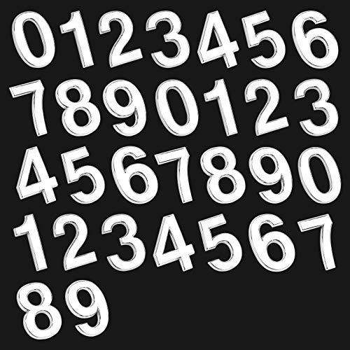30 Piezas Números de Buzón,Números de Casa de Puerta Autoadhesivos Números de Buzones Números de Dirección Números de buzón de correo reflectantes Número de casa moderno para decoración de oficina