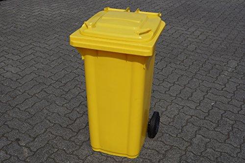 Preisvergleich Produktbild SSI Schäfer Mülltone 120L gelb Müllgroßbehälter - made in Germany