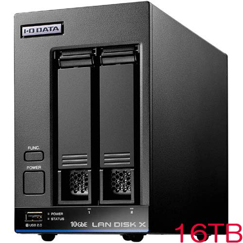 IODATA HDL2-XA16 10GbE&マルチギガビット対応 Linuxベース法人向け2ドライブNAS 16TB