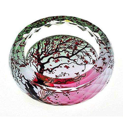 cendrier Xuan - worth having Modèle de mangrove en 3D Style d'impression couleur cristal rond Décoration de salon (taille : 13 cm)