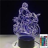 Modello di moto Moto Moon 3D LED Lampada da tavolo a luce notturna Comodino Decorazione Regalo per bambini