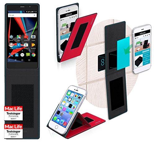 Hülle für Archos 55 Diamond Selfie Tasche Cover Hülle Bumper   Rot   Testsieger