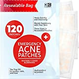 Acne Patches (120 Pack), Hydrocolloid Acne Patch with Tea Tree Oil - Pimple Patches for Face - Zit Patch and Pimple Stickers - Hydrocolloid Acne Dots for Healing Acne with Zit Patches - Acne Treatment