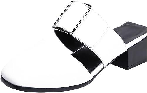 Calaier Femme Caonce 4.5CM Bloc Glisser sur Mules et et et Sabots Chaussures 2fc