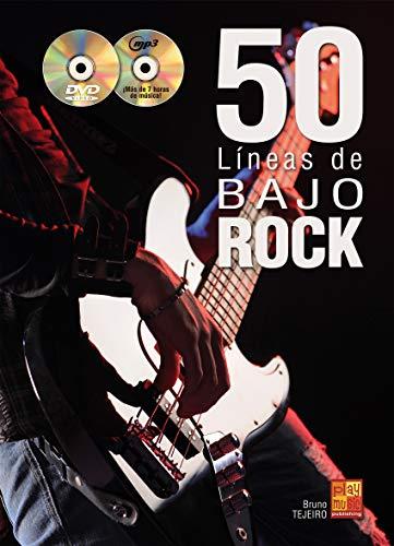 50 líneas de bajo rock - 1 Libro + 1 CD + 1 DVD