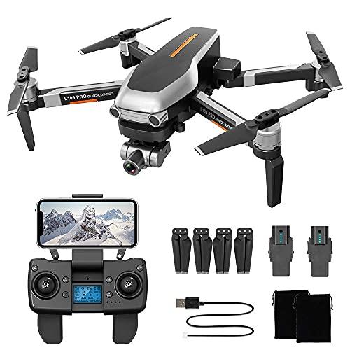 DCLINA Droni GPS 4K - Quadricottero RC FPV WiFi 5GHz Live Video con Gimbal stabilizzatore Meccanico a Due Assi, Resistenza al Vento Livello 7, Volo 1200 Metri