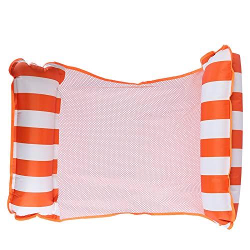 Diseño plegable Cama de agua flotante de 4 colores diferentes Mano de obra fina plegable de doble propósito, para su horario de verano, para 15 años o más(Orange)