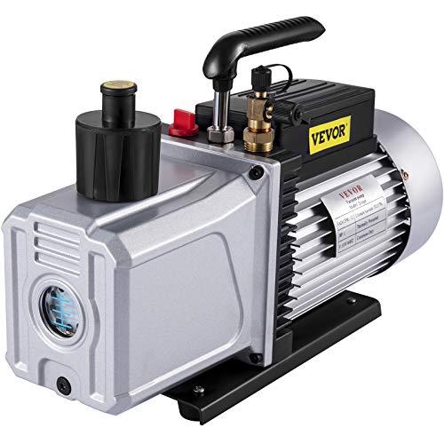 VEVOR Vacuum pump 12CFM 1 HP Two Stage Air Conditioning Vacuum Pump 110V 0.2PA Ultimate Vacuum Refrigerant HVAC Air Tool for Automobile Reparation Vacuum Evacuation (2-Stage, 12CFM)