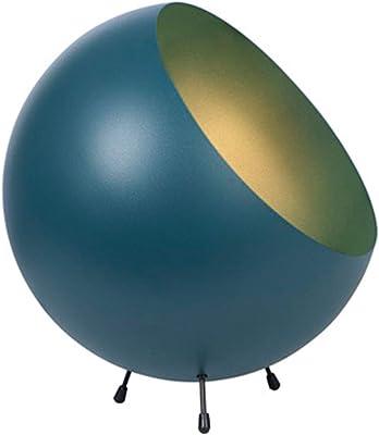 Lampe de table XL en métal mat bleu sarcelle