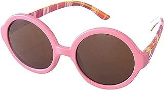 太阳镜 儿童时尚太阳镜 ROUND ピンク/チェック