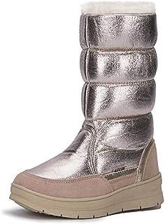 1a5919669 Women's Fashion Platform Waterproof Short Plush Lined Frosty Winter Warm  Snow Boot
