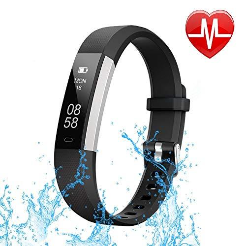 Smart Technic Braccialetto Fitness Tracker Contapassi da Polso Cardiofrequenzimetro GPS IP67