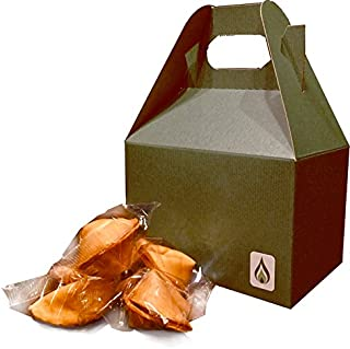 Greenfire Fortune Cookies in a Gift Box - Funny Kid Friendly Messages, SFW [Safe For Work], Traditional Vanilla Individually Wrapped - Kosher (5)