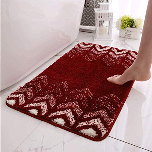 LHJY Ultralabsorbierende Indoor-Fußmatten, rutschfeste Gummi-Boden-Badematte, Für Haustür Badezimmer Küche Waschküche Einstiegs-Dekor 50x80cm (Support-Anpassung)(Size:50x80cm(19.6x31.4in),Color:A5)